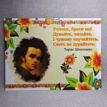 Шевченко. Плакат для кабинета школ. Картон