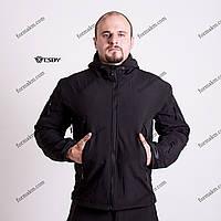 Тактическая куртка на флисе ESDY SoftShell Ranger Black, фото 1