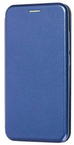 Чохол (книжка) преміум для Xiaomi Redmi Note 8T (синя)