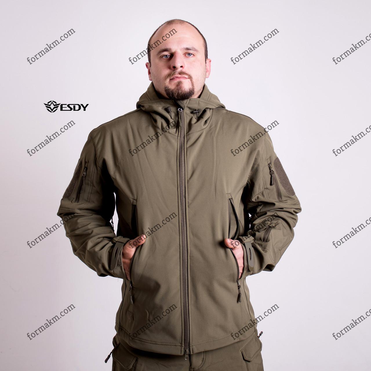 Тактическая куртка на флисе ESDY SoftShell Ranger Olive