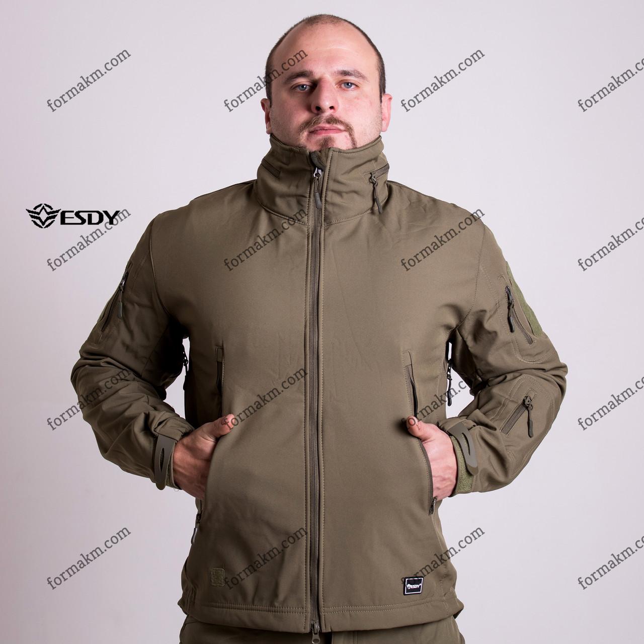 Тактическая куртка на флисе ESDY SoftShell Tactic Olive