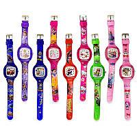 Часы детские AS4241 9 видов, мультгерои, водоотталкивающие, 21см