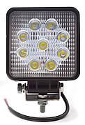 Фара LED квадратная рабочая 27W/30⁰ (9x3W, 3100 lm, узкий луч 30⁰, IP67) ФР-230