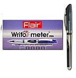 Ручка гелевая Flair 747A черная Writometer gel 1.5км, фото 4