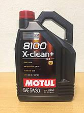Масло MOTUL 8100 X-CLEAN+ 5W-30 5л (106377)