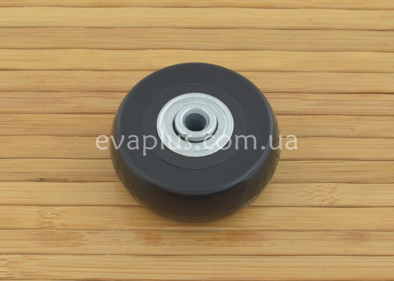 Колесо для чемодана на подшипниках 49/6/18.5 мм (черное)