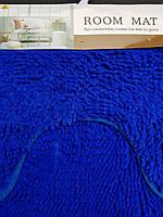 Набор килимків у ванну кімнату, синий 50х80 і туалет 40х50см., фото 1