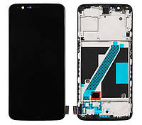 Дисплей OnePlus 5T complete with frame black (TFT)