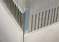 """Профіль для плитки """"Mersedes"""" алюміній хром. 10мм/2,7 м"""