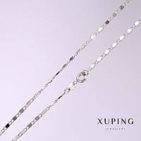 Цепочка Xuping плетение мадлена s-1,5мм L-60см родий