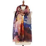 Палантин шерстяной 10718-6, павлопосадский шарф-палантин шерстяной (разреженная шерсть) с осыпкой, фото 3