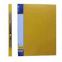 Папка-скоросшиватель А4 с пружинным механизмом Economix CLIP A, желтая E31201-05