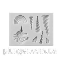 Молд кондитерський силіконовий для мастики Єдиноріг