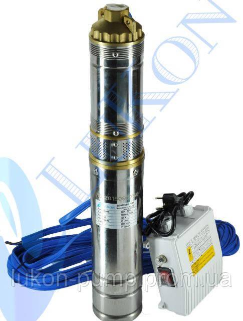 Насос скважинный , погружной насос , глубинный , в колодец 4QGDa 0.37кВт с пультом управления