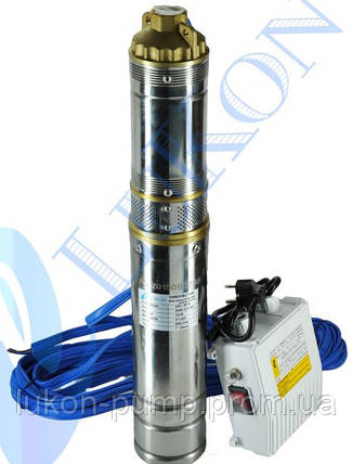 Насос скважинный , погружной насос , глубинный , в колодец 4QGDa 0.37кВт с пультом управления, фото 2