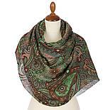 Палантин шерстяной 10794-9, павлопосадский шарф-палантин шерстяной (разреженная шерсть) с осыпкой, фото 3