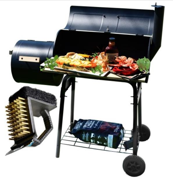 Садовой гриль, барбекю, гриль с коптильной Garden Carbon Grill
