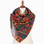 Палантин шерстяной 10839-4, павлопосадский шарф-палантин шерстяной (разреженная шерсть) с осыпкой, фото 3