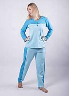Распродажа остатков! Теплая легкая пижама хлопок подходит для кормящих мам хл\ххл, голубой