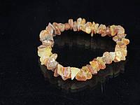 Браслет из натурального необработанного янтаря  лечебный