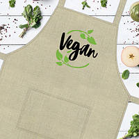 Фартук с надписью Vegan (FRT_19N013)