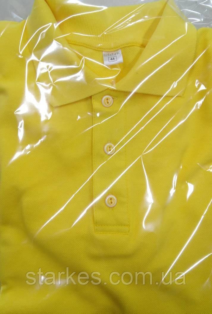 Футболки мужские Поло желтого цвета, хлопковые, 46 р и др.