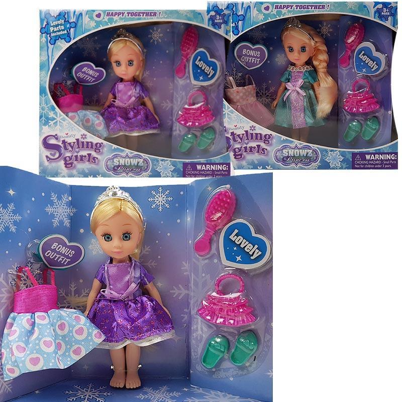 Кукла 63013 2 вида, расческа, сумочка, туфельки