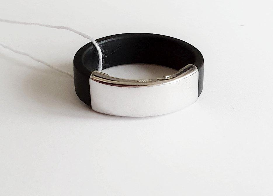 Кольцо из каучука серебро Брэд