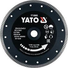 Диск отрезной алмазный 230 мм YATO YT-59985 (Польша)