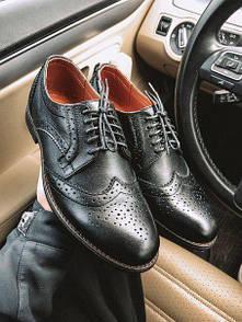 Кожаные стильные мужские туфли