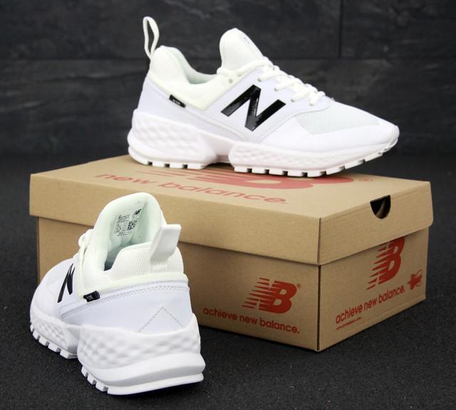 Мужские кроссовки New Balance 574 Sport V2 белого цвета фото