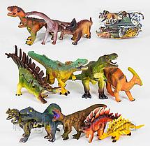 Динозавры музыкальные XDH 359-69 (80175) 12 видов, мягкие, резиновые, 21-27 см