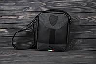 Барсетка тканевая мужская Puma Ferarri X antracit / сумка через плечо / мессенджер