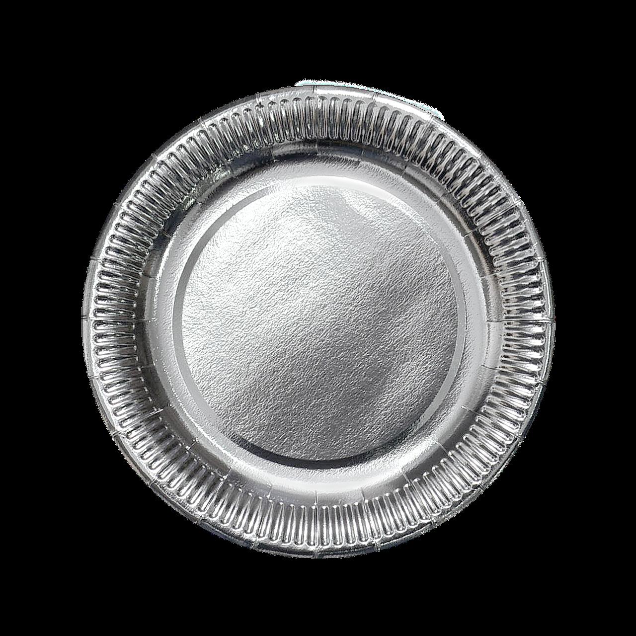 Тарелка картонная Серебро ХТ18 100шт/уп (1ящ/10уп/1000шт)