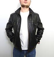 Мужская куртка Eleganza из натуральной кожи. Модель  ROVER размер XL