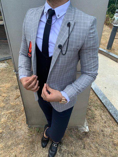 Стильный мужской пиджак, четыре топовых цвета