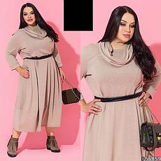 Женское трикотажное теплое платье размеры:52-62, фото 3