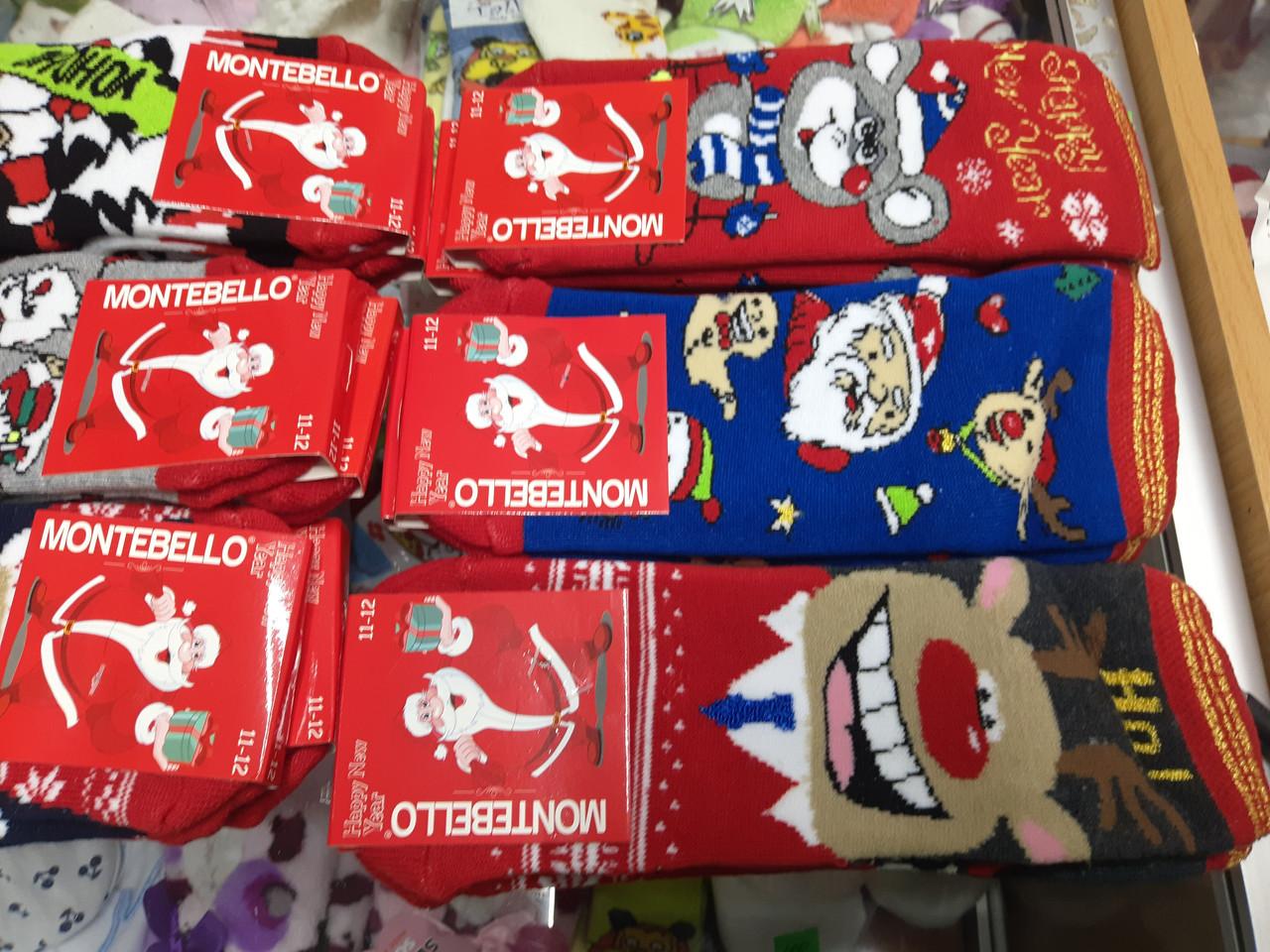 Шкарпетки дитячі Новорічні махра Туреччина від 7 до 12 років
