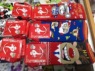 Носки детские Новогодние махра Турция от 7 до 12 лет