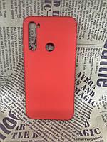 Xiaomi Redmi Note 8 оригинальный матовый цветной чехол/ бампер/ накладка Silicone Case красный