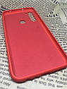 Xiaomi Redmi Note 8 оригинальный матовый цветной чехол/ бампер/ накладка Silicone Case красный, фото 3
