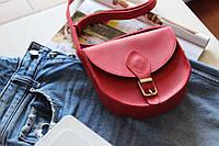 Женская сумка из натуральной кожи крейзи хорс с магнитом Brenda