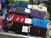 Носки женские махровые  Новогодние мышки р.23-25