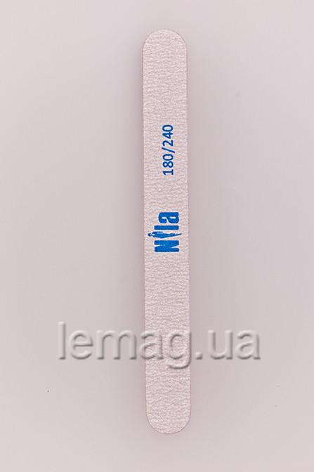 Nila Пилочка для ногтей прямая 180/240 , 1 шт