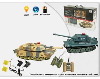 Радиоуправляемый танковый бой Huan Qi 508-10 Tiger vs Leopard 1:32 +ПОДАРОК