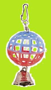 Игрушка для попугая Шарик с колокольчиком