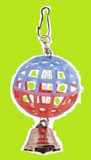 Игрушка для попугая Шарик с колокольчиком, фото 2