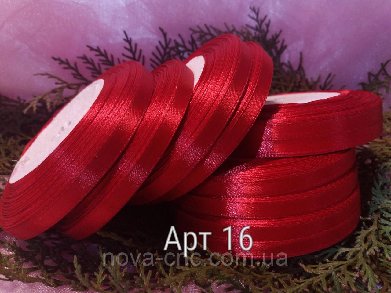 Ленты  атлас красный 6 мм 23 м