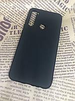 Xiaomi Redmi Note 8 оригинальный матовый цветной чехол/ бампер/ накладка Silicone Case черный