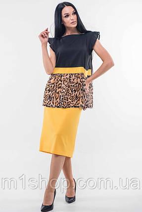Женский юбочный костюм с принтом леопарда (Лео-СИти ri), фото 2